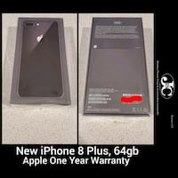 Brand New iPhone 8 Plus Black, 64gb! Unlocked for any carrier!  Albuquerque