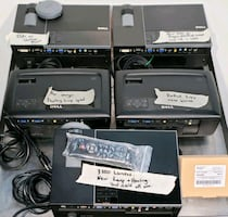 Lot of 5 Dell Projectors/Various conditions/Dell 1510X and 4 Others