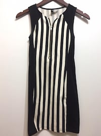 H&M black and white striped bodycon, Size 2 Prince George