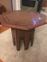 Hand painted southeast Asia side table  Arcade, 95608