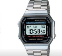 square silver-colored Casio digital watch with link bracelet Toronto, M2N 0A9