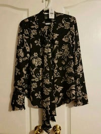 black and white floral button-up shirt Vaughan, L4H 2C6