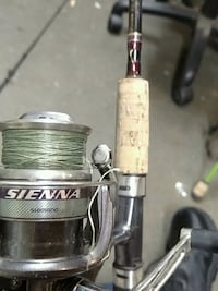 white and black Sienna Shimano fishing reel Citrus Heights, 95610