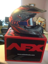 Red and black motocross helmet with box Frewsburg, 14738