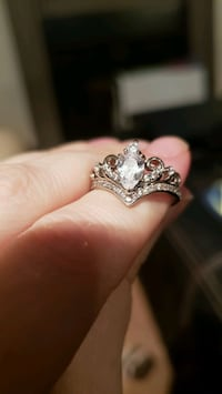 silver and diamond solitaire ring Midvale, 84047