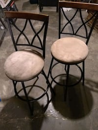 Two barstools - metal, swivel