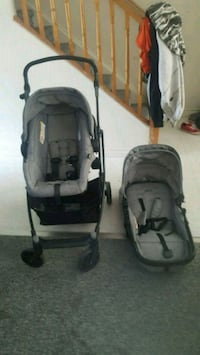 baby's black-and-gray 2-piece travel system Cambridge, N1R 8P5