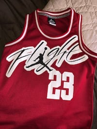 Red and white chicago bulls 23 jersey Palm Desert