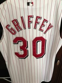 white and red Chicago Cubs jersey 374 mi