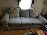 """Comfy checkered couch 78"""" long 3 pillows"""
