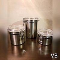 Stainless Steel Canisters Set of 3.