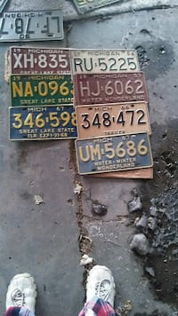 Very old license plates