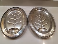 Beautiful Two Large oval Serving Tree Platters Peoria
