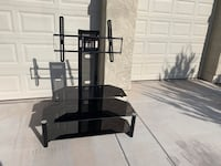 black glass-top TV stand with mount Phoenix, 85041