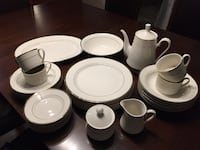 Set of 8 dishes with gold trim Laval, H7G 4J2
