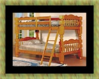 brown wooden bed frame with mattress Fairfax