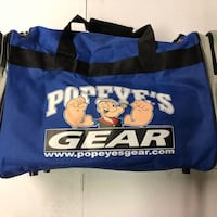 Popeye's deluxe gym bag