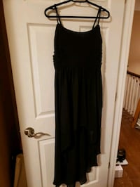Black spaghetti strap Forever 21 high-lo dress Mississauga, L5N 1P3