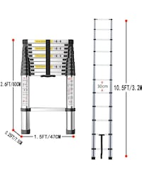 Portable Ladder Extendable 3.8m made in Canada Toronto, M1N 1S5