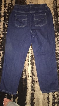 womens Blassport denim jeans with elastic waistband size 8 petite Waterloo, 50703