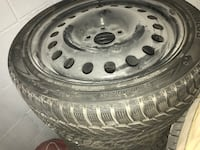 Gray bullet hole car wheel with tire Richmond Hill, L4C