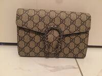 monogrammed brown Gucci leather crossbody bag Sherwood Park, T8A