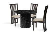 Elegant Nero Black and White Marble Table null