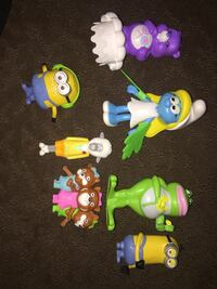 assorted color plastic toys