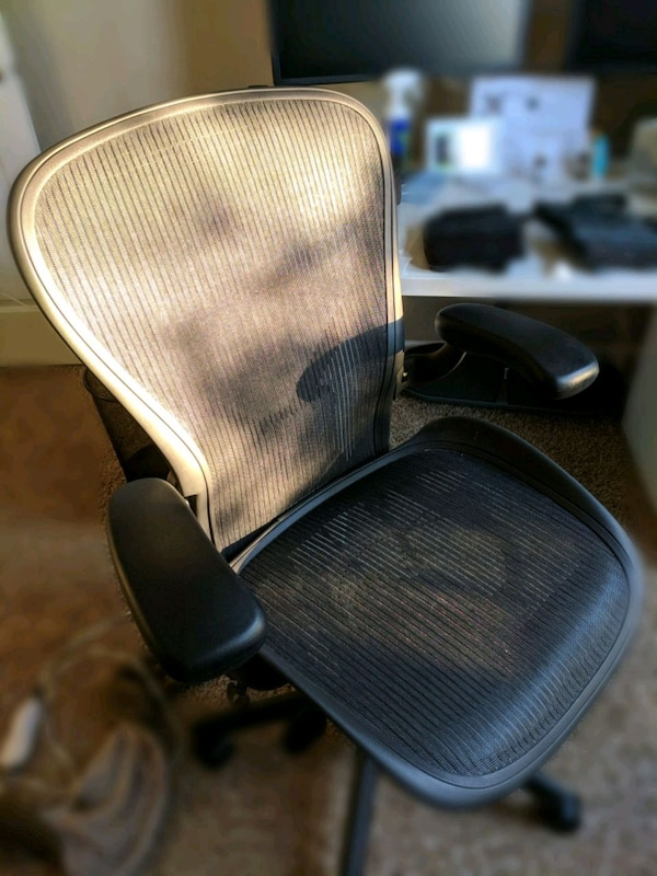 Used Herman Miller Aeron Chair Size C For Sale In Lake Villa Letgo