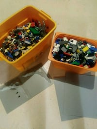 Large bins of assorted lego