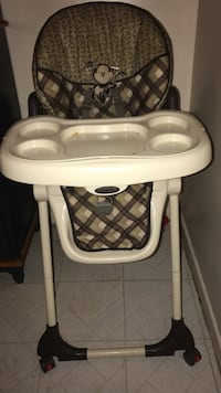 baby's white and gray high chair Baltimore, 21220
