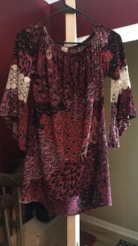 women's red and black floral dress Sparta, 38583