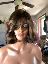 Brown beachy waves A plus synthetic wig