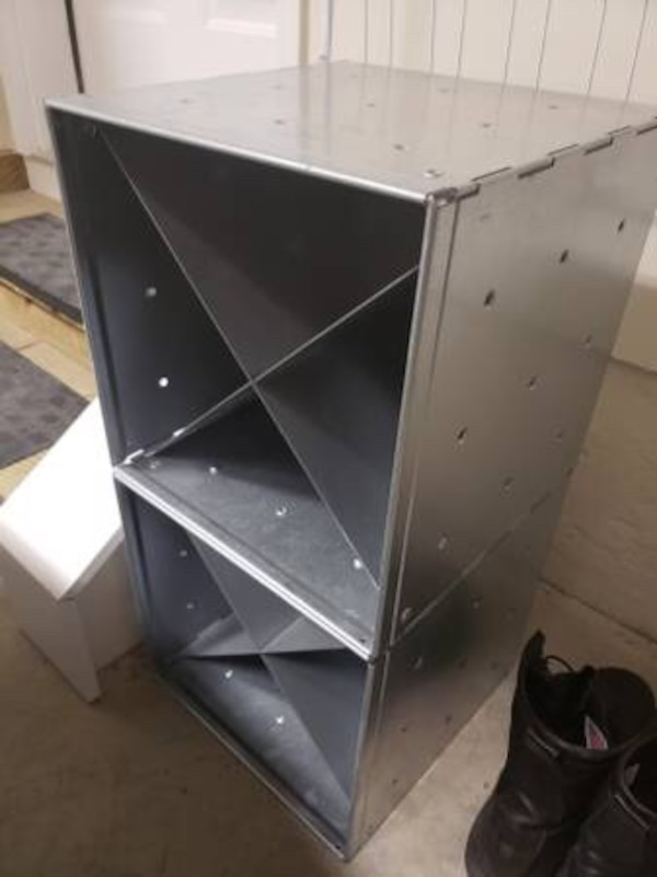 Divided Steel Wall Storage Cubes (2)