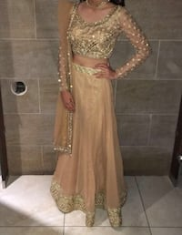Indian suit/lengha with blouse and dupatta