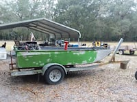Used 12'6 aluminum bear airboat hull for sale in Anthony - letgo