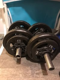 black and gray barbell and dumbbells New York, 11203
