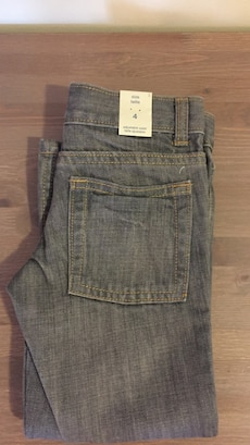 Grey boys jeans size 4 new with tags