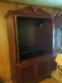 brown wooden TV hutch with flat screen television Boiling Springs, 29316