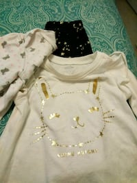 Old Navy 3-6month outfit and a free onesie. Clarksville