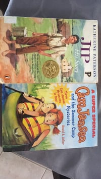 2 books jip his story by katherine Peterson 2 book cam Jansen and the summer camp mystery's