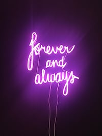 """""""Forever and Always"""", neon sign 913 mi"""