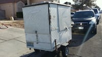 gray and white enclosed trailer Las Vegas, 89107