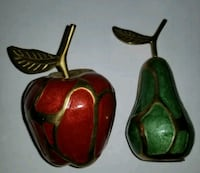 Cloisonne Apple and Pear Decoration.