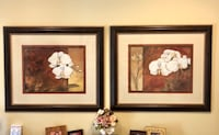 two painting of white orchids with black frame Irvine, 92620