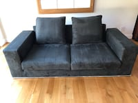 Black suede 2-seat sofa Chevy Chase Village, 20815