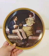 """Norman Rockwell's """"Pondering On The Porch"""" Plate Santa Rosa, 95404"""