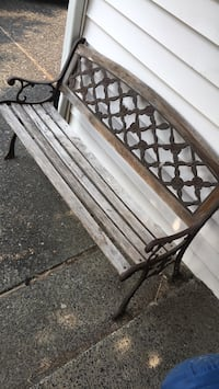 black metal frame with brown wooden bench Vancouver, 98682