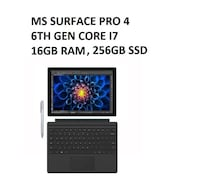 *firm price* Microsoft Surface Pro 4  - 16GB RAM, 6th Gen Intel Core i7, 256GB SSD, MS Office (pick up only) Toronto