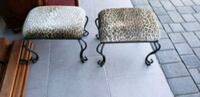 two gray metal framed brown padded chairs Glendale, 91206